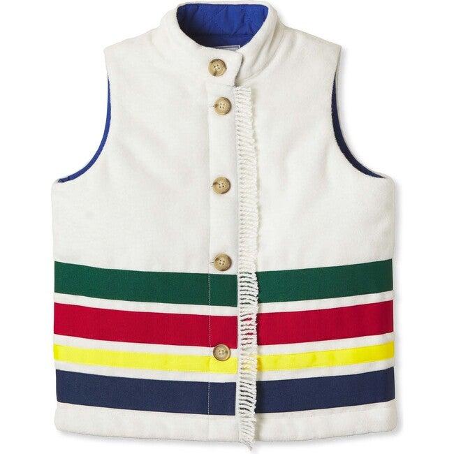 Adirondack Stripe Vest, Cannoli Cream