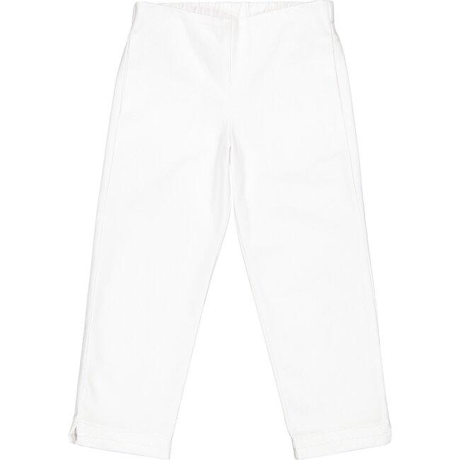Evie Pique Pants, White