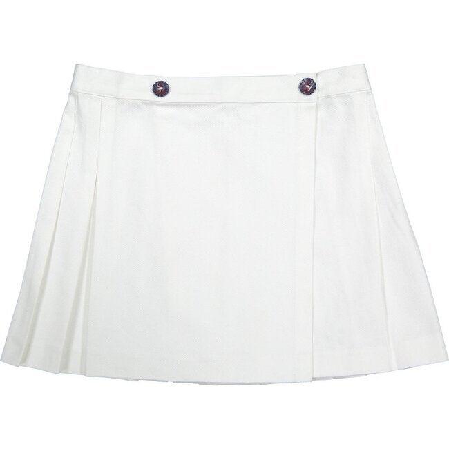 Erin Tennis Skirt, White - Skirts - 1