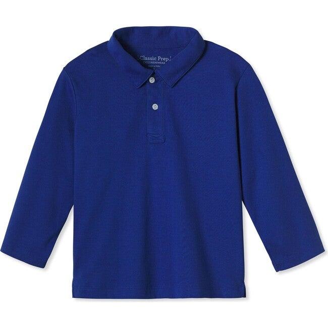 Henry Long Sleeve Polo, Bright Navy
