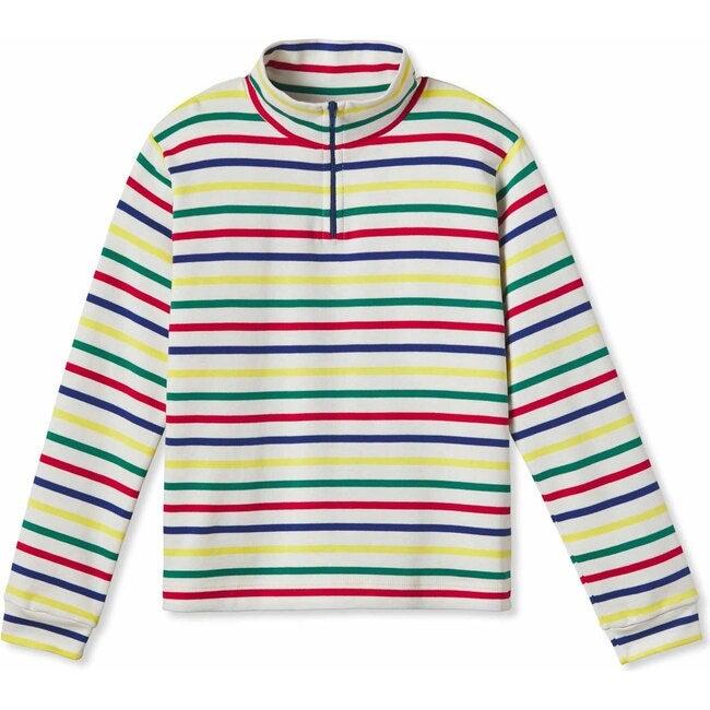 Harrison Zip Sweater, Multistripe