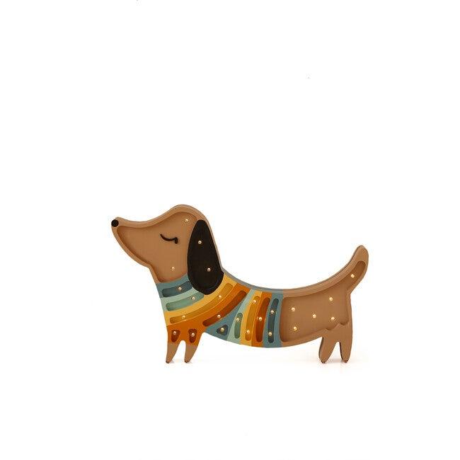 Puppy Lamp, Brown/Multi