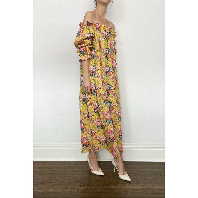 Women's Grace Dress, Yellow Chintz