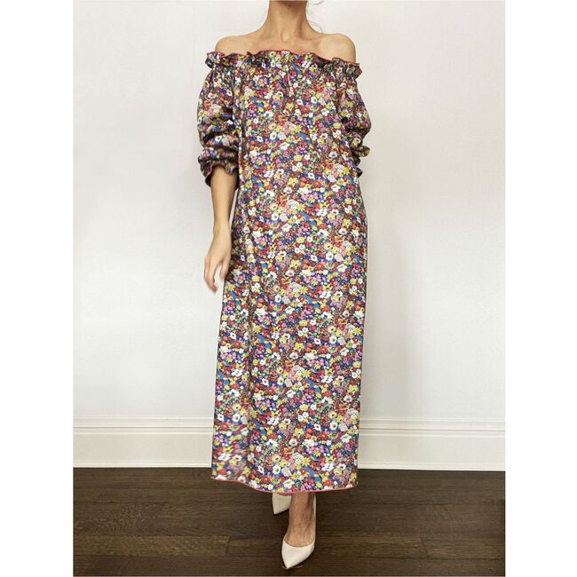 Women's Grace Dress, Indigo Floral