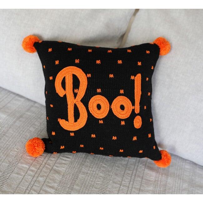 Boo Pillow, Black/Orange