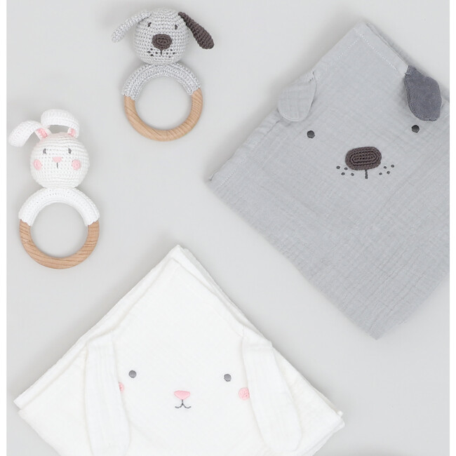 Bunny Muslin Swaddle Blanket