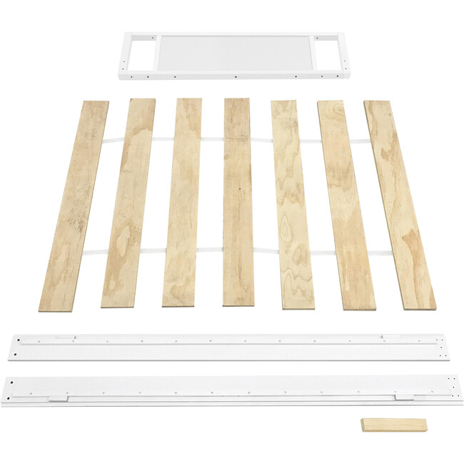 Full Size Bed Conversion Kit for Eero Crib in White