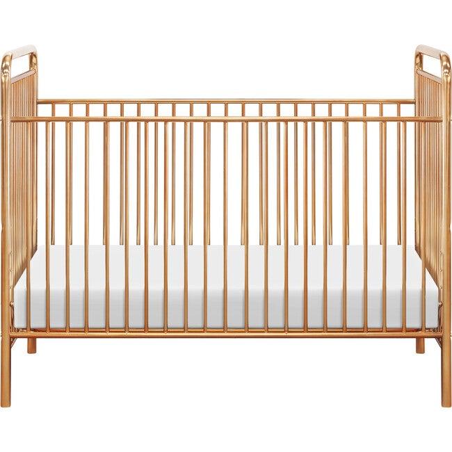 Jubilee 3-in-1 Convertible Metal Crib, Gold - Cribs - 1