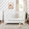 Scoot 3-in-1 Convertible Crib with Toddler Bed Conversion Kit, White - Cribs - 5