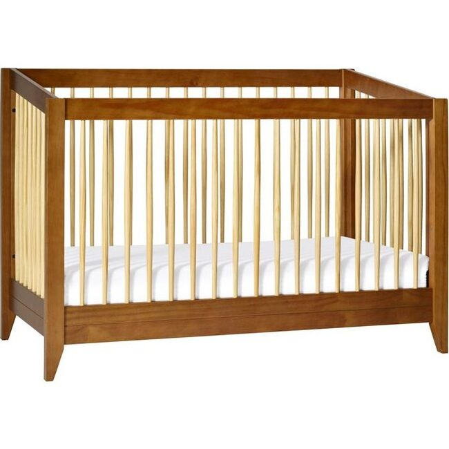 Sprout 4-in-1 Convertible Crib with Toddler Bed Conversion Kit, Walnut