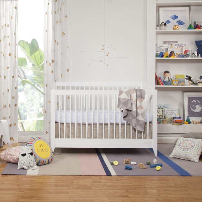 Sprout 4-in-1 Convertible Crib with Toddler Bed Conversion Kit, White