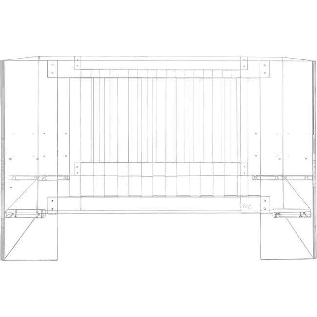 Vetro Crib, Clear Acrylic - Cribs - 1