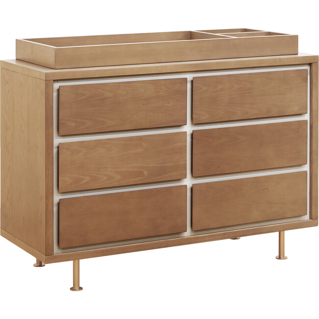 Novella 6-Drawer Double Dresser, Stained Ash and Ivory