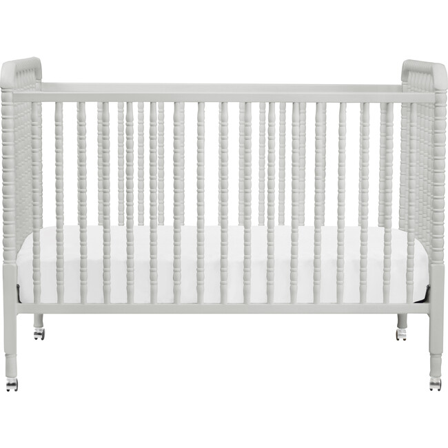 Jenny Lind 3-in-1 Convertible Crib, Fog Grey - Cribs - 1