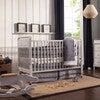 Jenny Lind 3-in-1 Convertible Crib, Fog Grey - Cribs - 2
