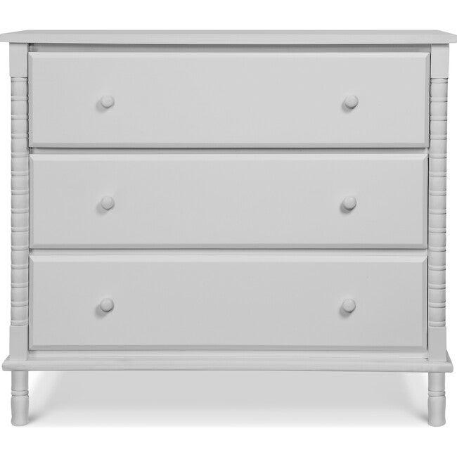 Jenny Lind Spindle 3-Drawer Dresser, Fog Grey