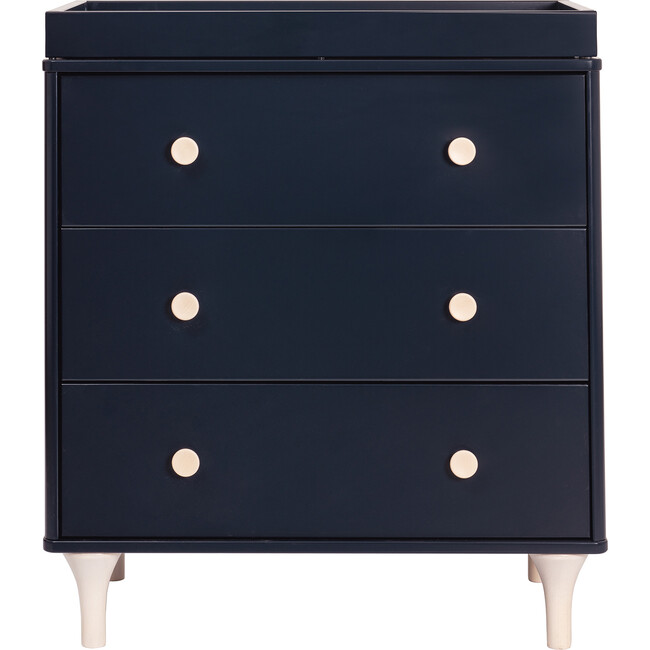 Lolly 3-Drawer Changer Dresser with Removable Changing Tray, Navy