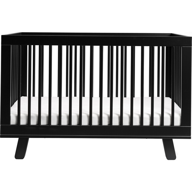 Hudson 3-in-1 Convertible Crib with Toddler Bed Conversion Kit, Black