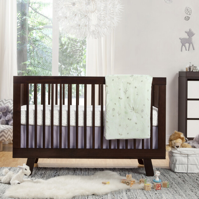 Hudson 3-in-1 Convertible Crib with Toddler Bed Conversion Kit, Espresso