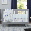 Hudson 3-in-1 Convertible Crib with Toddler Bed Conversion Kit, Grey/White - Cribs - 2
