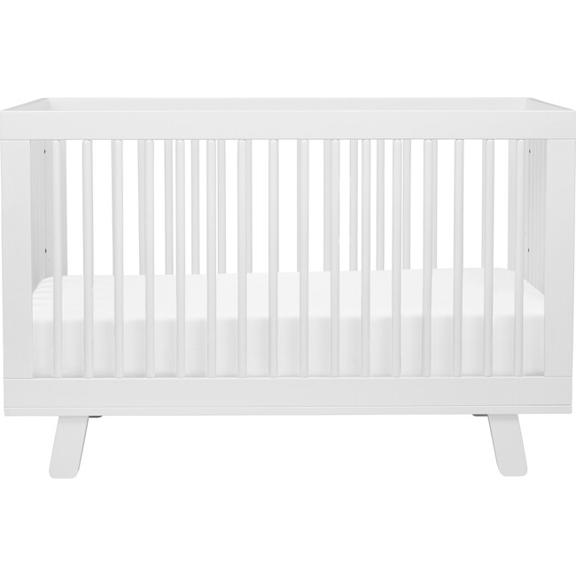 Hudson 3-in-1 Convertible Crib with Toddler Bed Conversion Kit, White