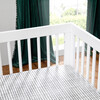 Hudson 3-in-1 Convertible Crib with Toddler Bed Conversion Kit, White - Cribs - 8