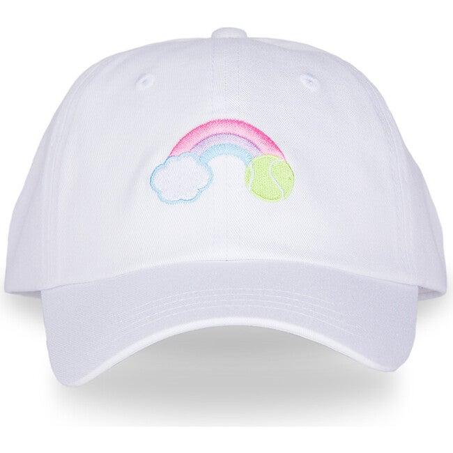 Kids Tennis Camper Hat, Pastel Rainbow