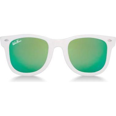 Polarized Sunglasses, White with Sea Green - Sunglasses - 1