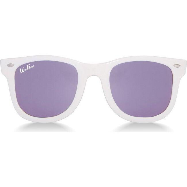 Polarized Sunglasses, White with Purple
