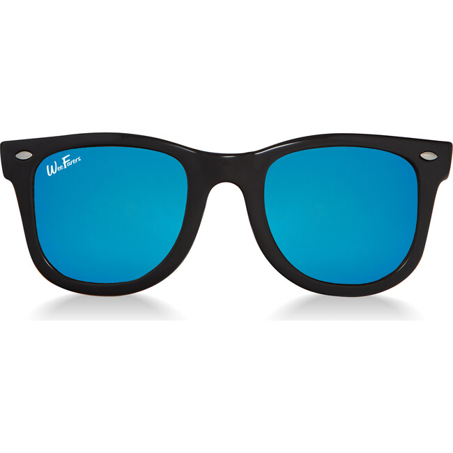 Polarized Sunglasses, Black with Ocean Blue