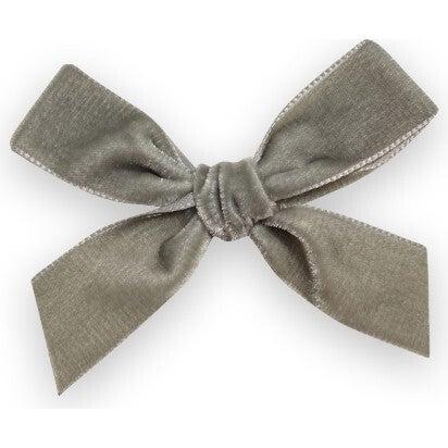 Velvet Bow Headband, Sage