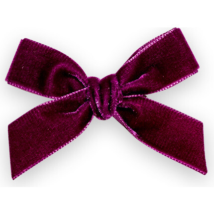 Velvet Bow Headband, Plum