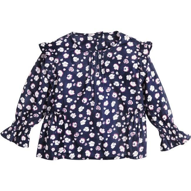 Melissa Top, Mini Pansy Print - Blouses - 1
