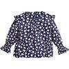 Melissa Top, Mini Pansy Print - Blouses - 1 - thumbnail