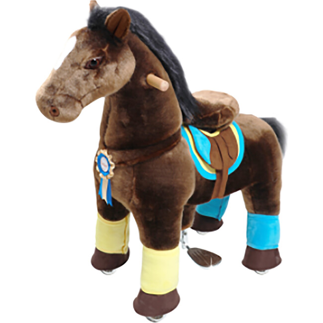 Chocolate Brown Horse with Accessories, Medium