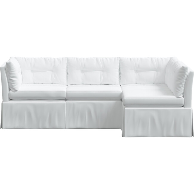Octavia 4 Piece Sectional, Twill White