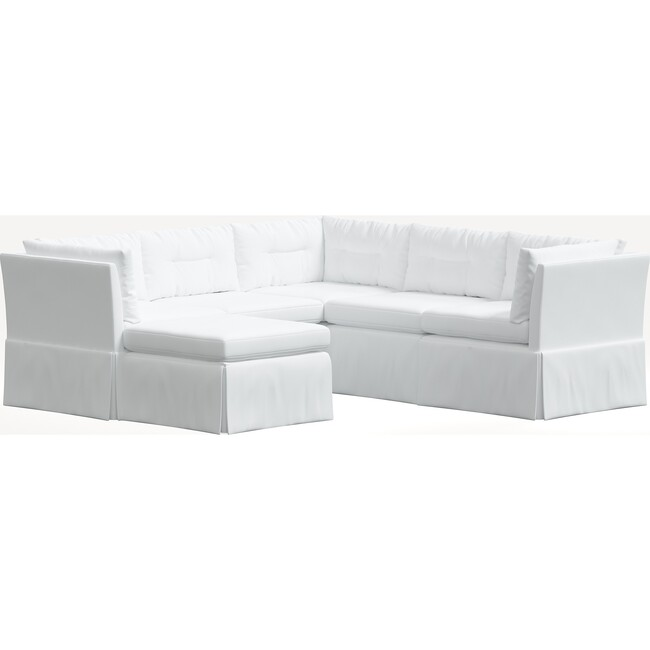 Octavia 6 Piece Sectional, Twill White