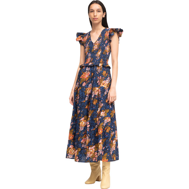 Women's Ines Midi Dress, Navy