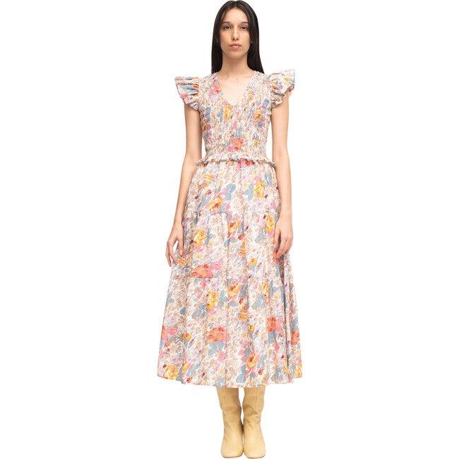 Women's Ines Midi Dress, Cream