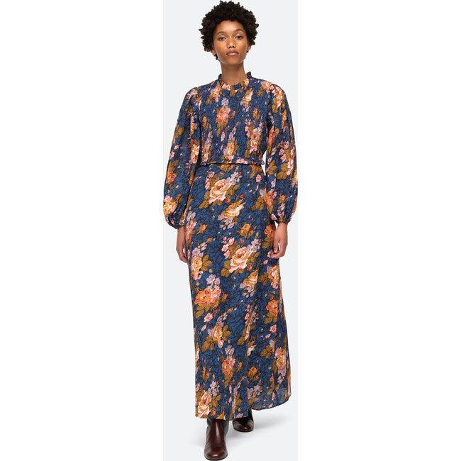 Women's Ines Long Sleeve Dress, Navy