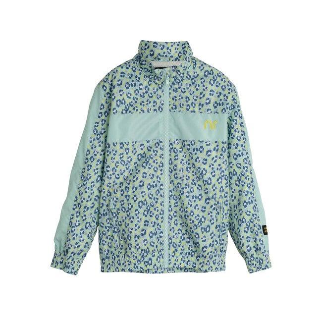 Stevie Track Jacket, Mint Leopard