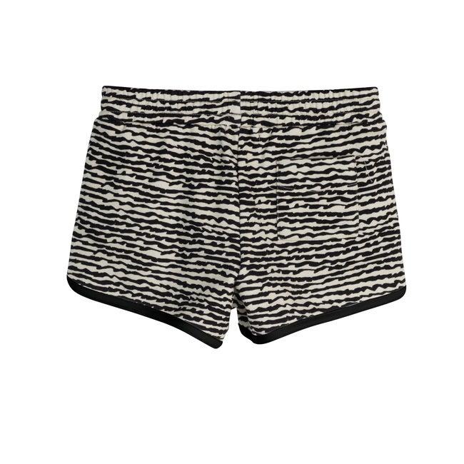 Nicki Shorts, Faded Black Fun Stripe