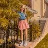 Patti Poplin Skirt, Crystal Rose Pink - Skirts - 2