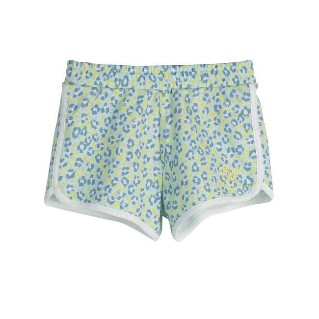 Nicki Shorts, Mint Leopard