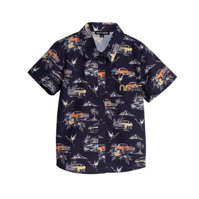Billie Poplin Shirt, Blueprint Muscle Car - Shirts - 1