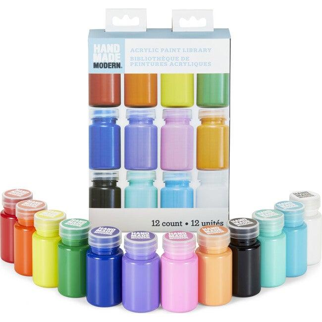 Rainbow Satin Acrylic Paint, Set of 12