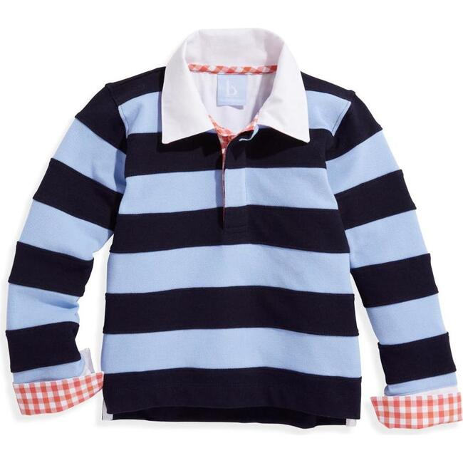 Fritz Rugby Shirt, Blue and Navy