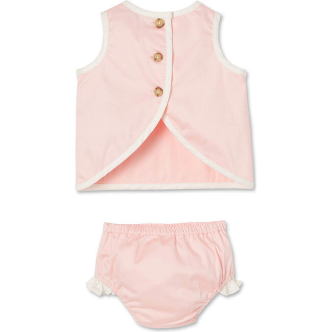 Poppy Dress and Bloomer Set, Impatiens Pink