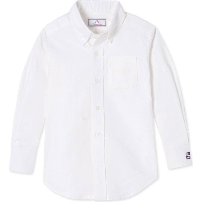 Long Sleeve Owen Button Down, Bright White Oxford