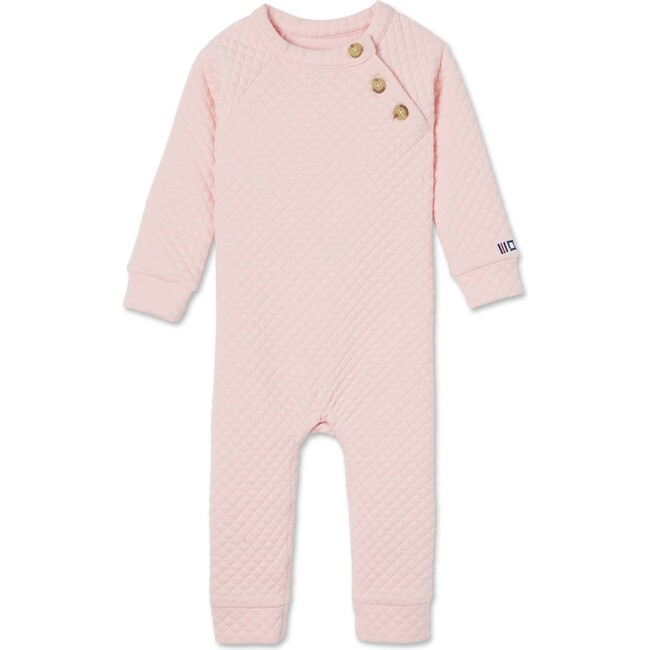 Reese Quilted Romper, Impatiens Pink
